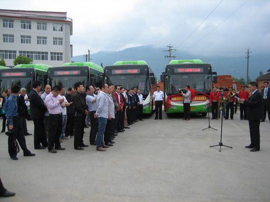 西北地区首批CNG气电混合动力公交正式交付使用
