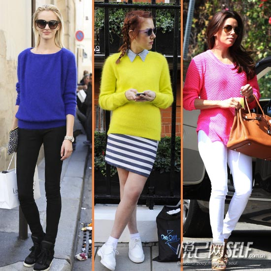 彩虹色针织衫 一到七不重样
