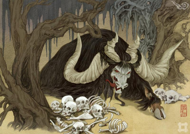 插画《山海兽》根据《山海经》还原古兽