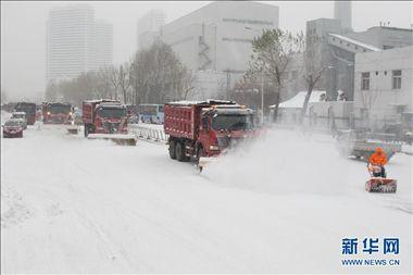 东北遭遇大雪:吉林继续黄色预警