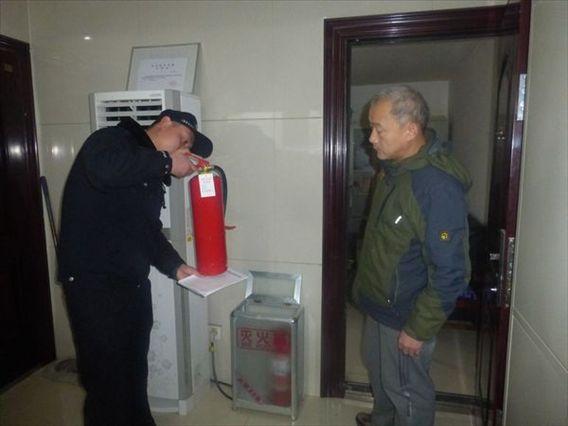 新市派出所开展冬季重点单位消防安全检查活动