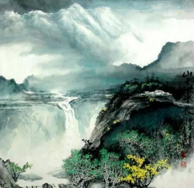 国家名片上的书画名家时泰山作品欣赏