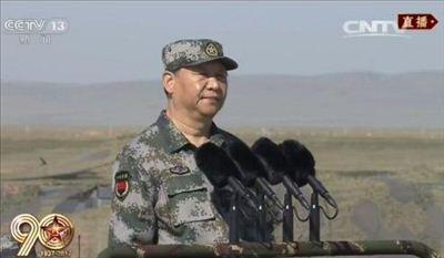 庆祝建军90周年阅兵 习近平检阅部队