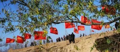 山西隰县陡坡乡:千亩海棠织锦绣 党旗更比海棠红