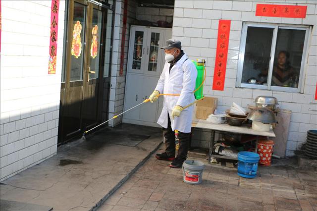 陕西省神木县店塔镇200名联防员全面开展消杀作业