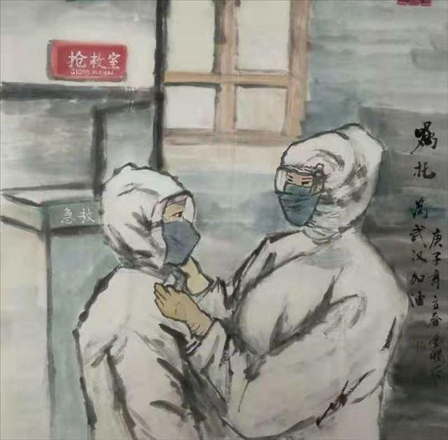 """河南周口川汇区美协组织画家们积极创作凝心聚力共抗""""疫"""""""