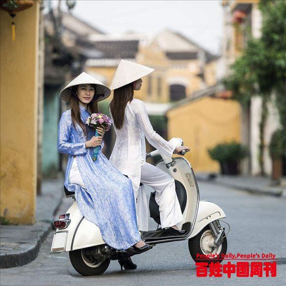 飘逸优雅的越南奥黛美女