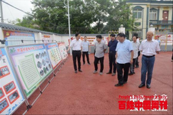 河南新野:人大常委专题视察农村环境整治