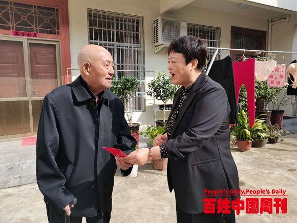 """河南固始县:""""长寿红包""""弘扬敬老传统美德"""