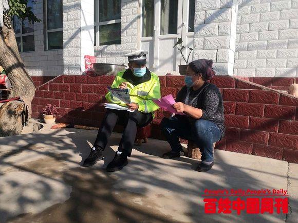 新疆伊宁县交通管理大队辅警凯合日曼·艾尔肯:以警为本服务为民