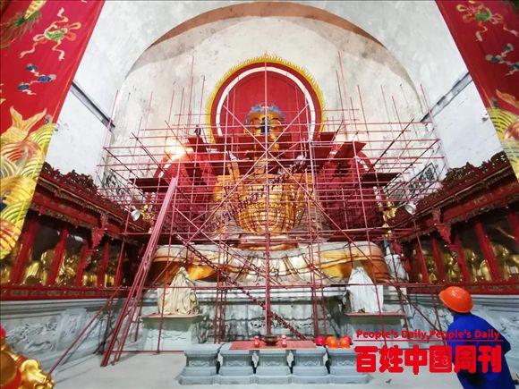 """全国重点文保单位、浙江新昌""""江南第一大佛""""修缮启动"""